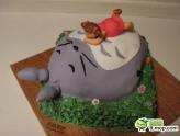 可爱的龙猫蛋糕(吃货慎入)